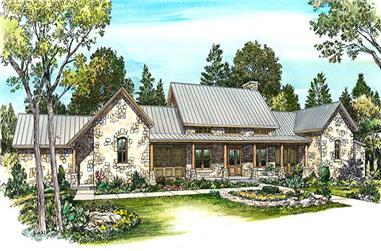 Front elevation of Modern home (ThePlanCollection: House Plan #192-1027)