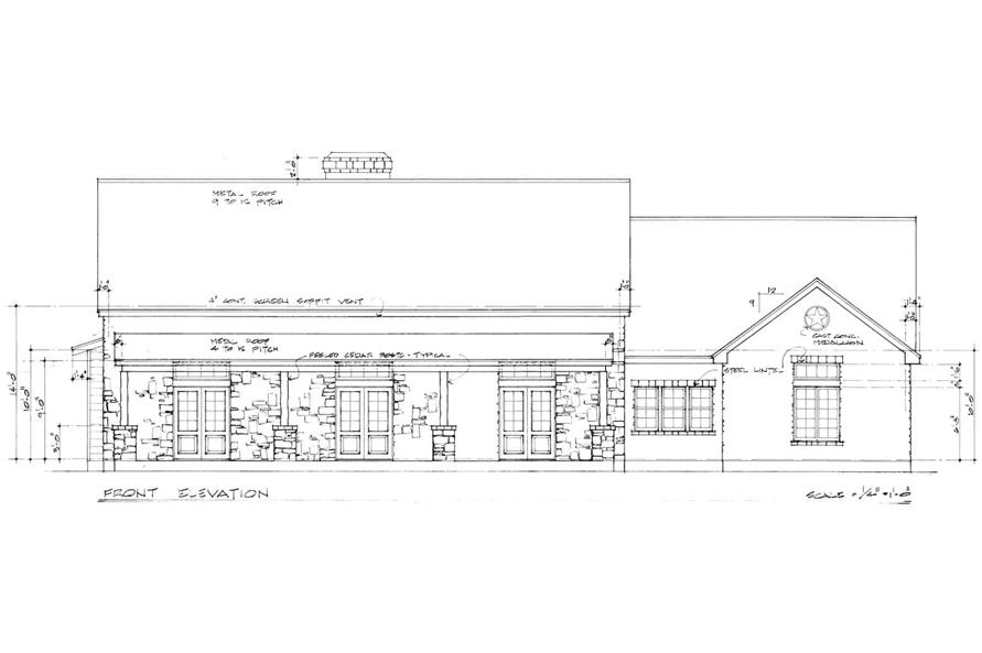 Home Plan Front Elevation of this 3-Bedroom,2125 Sq Ft Plan -192-1030