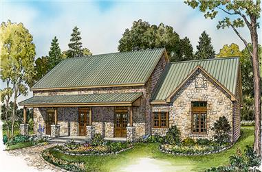 3-Bedroom, 2125 Sq Ft Country Home Plan - 192-1030 - Main Exterior