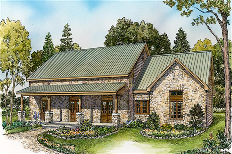 Front elevation of Country home (ThePlanCollection: House Plan #192-1030)