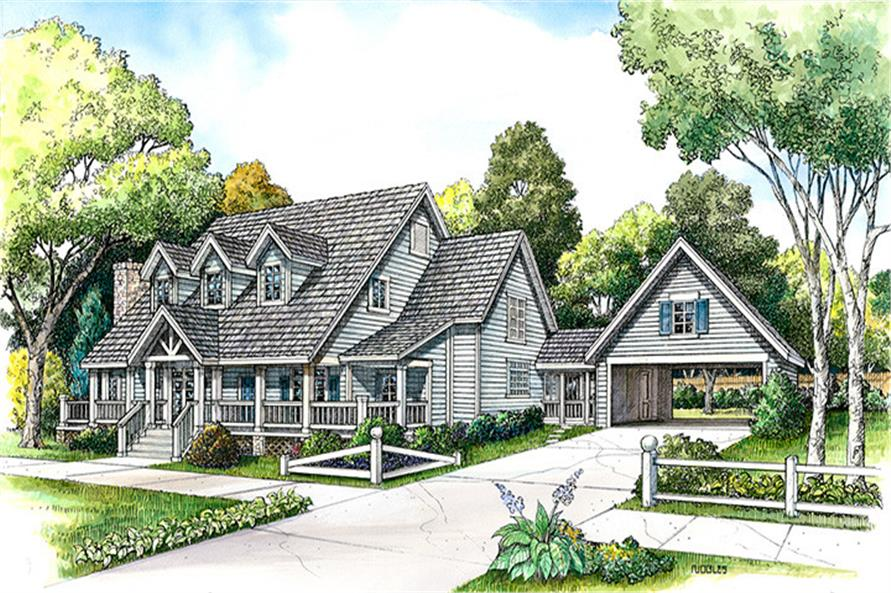4-Bedroom, 3519 Sq Ft Country House Plan - 192-1031 - Front Exterior