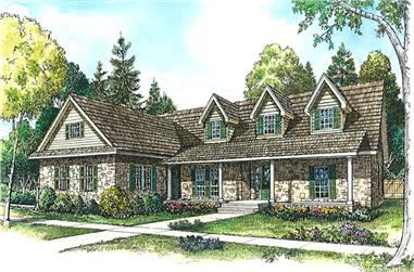 3-Bedroom, 2643 Sq Ft Country Home Plan - 192-1032 - Main Exterior