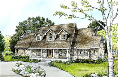 3-Bedroom, 3098 Sq Ft Country House Plan - 192-1036 - Front Exterior