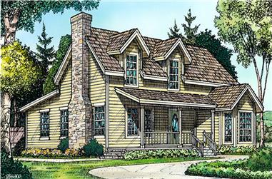 3-Bedroom, 1479 Sq Ft Country House Plan - 192-1038 - Front Exterior