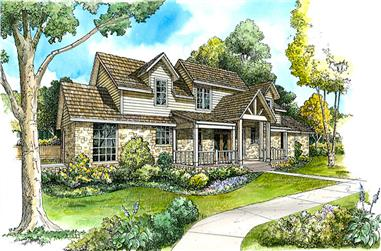 3-Bedroom, 2777 Sq Ft Country House Plan - 192-1042 - Front Exterior
