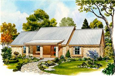 Front elevation of Country home (ThePlanCollection: House Plan #192-1044)