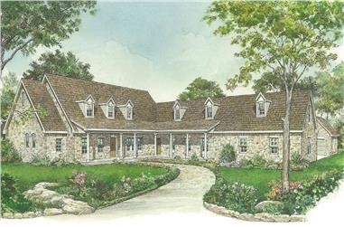 3-Bedroom, 3389 Sq Ft Ranch House - Plan #192-1060 - Front Exterior