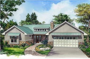 3-Bedroom, 2167 Sq Ft Ranch House - Plan #192-1063 - Front Exterior