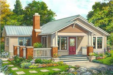 2-Bedroom, 1107 Sq Ft Ranch House - Plan #192-1065 - Front Exterior