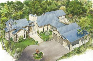 3-Bedroom, 3087 Sq Ft Texas Style Home - Plan #192-1067 - Main Exterior