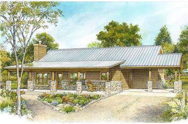 2-Bedroom, 1322 Sq Ft Ranch Home - Plan #192-1068 - Main Exterior