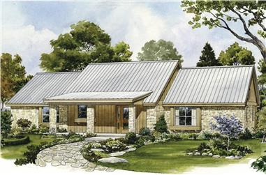 2-Bedroom, 1566 Sq Ft Ranch House - Plan #192-1069 - Front Exterior
