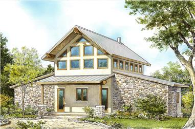 2-Bedroom, 1548 Sq Ft Contemporary Home - Plan #192-1071 - Main Exterior