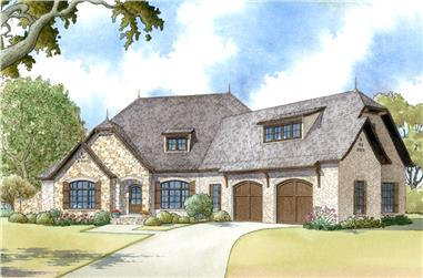 4-Bedroom, 2647 Sq Ft European House Plan - 193-1000 - Front Exterior