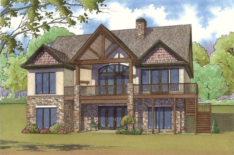 Home Plan Rendering of this 4-Bedroom,2178 Sq Ft Plan -2178