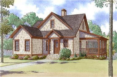 3-Bedroom, 1559 Sq Ft Craftsman House Plan - 193-1003 - Front Exterior