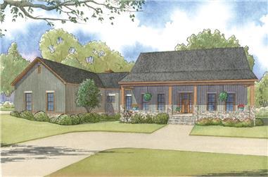 3-Bedroom, 2921 Sq Ft Craftsman House Plan - 193-1004 - Front Exterior