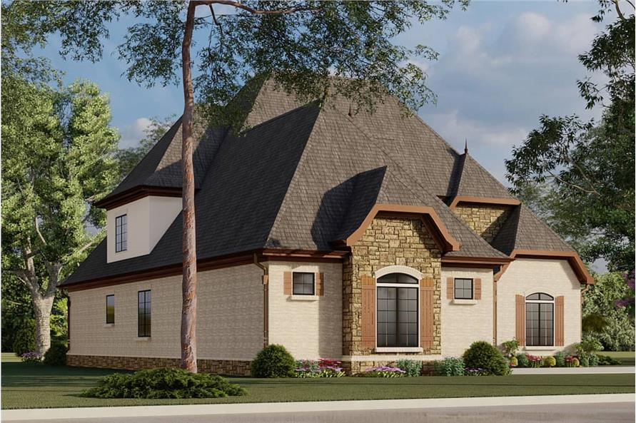 Left View of this 4-Bedroom,2979 Sq Ft Plan -193-1007