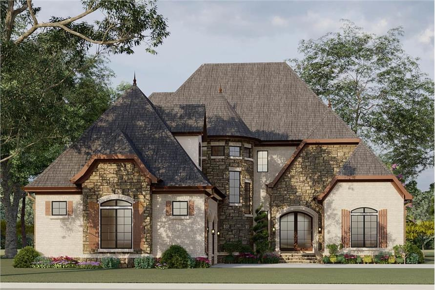 Front View of this 4-Bedroom,2979 Sq Ft Plan -193-1007