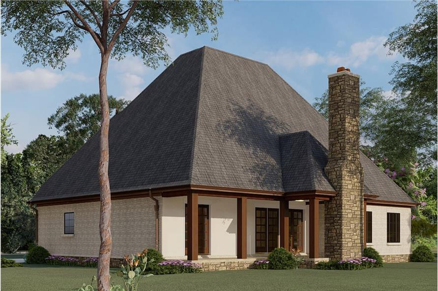 Rear View of this 4-Bedroom,2979 Sq Ft Plan -193-1007