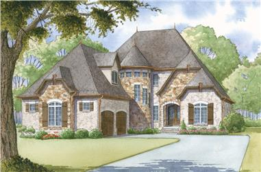 4-Bedroom, 2979 Sq Ft Cottage House Plan - 193-1007 - Front Exterior