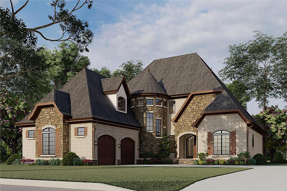 European Country style house (ThePlanCollection: Plan #193-1007)