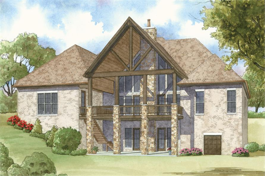 Home Plan Rendering of this 4-Bedroom,3713 Sq Ft Plan -193-1008