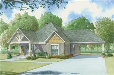 2-Bedroom, 1891 Sq Ft Cottage House Plan - 193-1009 - Front Exterior