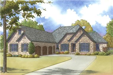 4-Bedroom, 2978 Sq Ft Cottage Home Plan - 193-1013 - Main Exterior