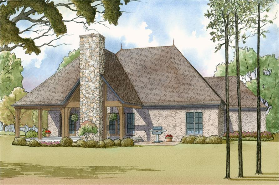 193-1014: Home Plan Rendering