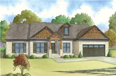 4-Bedroom, 2119 Sq Ft Craftsman House Plan - 193-1016 - Front Exterior