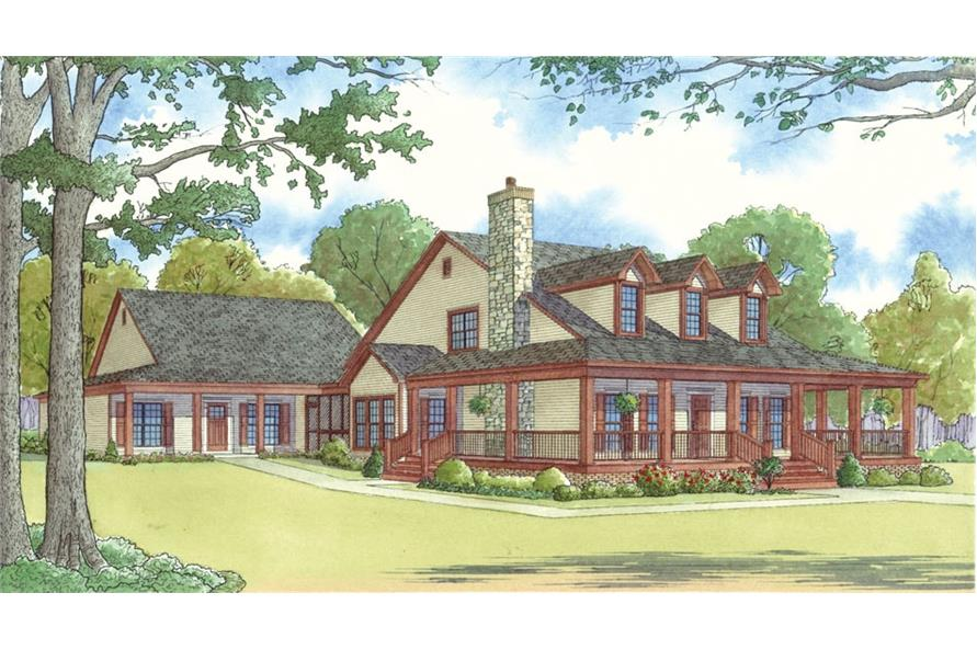 193-1017: Home Plan Rendering