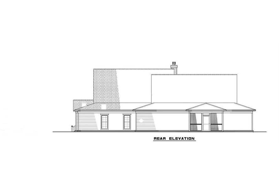 Home Plan Rear Elevation of this 6-Bedroom,3437 Sq Ft Plan -193-1017