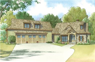 2-Bedroom, 4548 Sq Ft Craftsman Home Plan - 193-1018 - Main Exterior