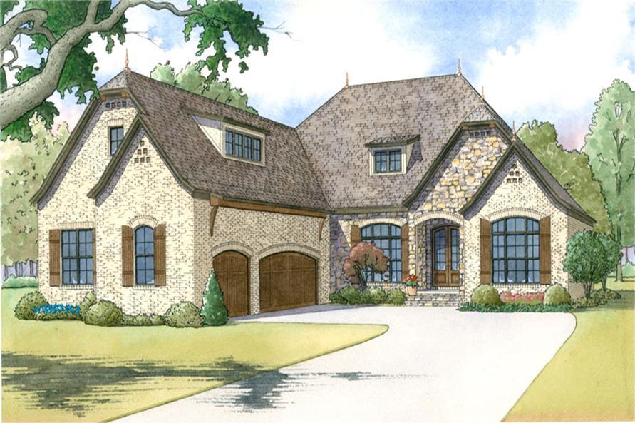 3-Bedroom, 2409 Sq Ft Craftsman Home Plan - 193-1019 - Main Exterior