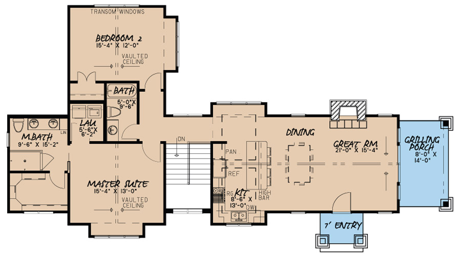 Traditional house plan 193 1020 2 bedrm 1920 sq ft home for 1920 floor plans