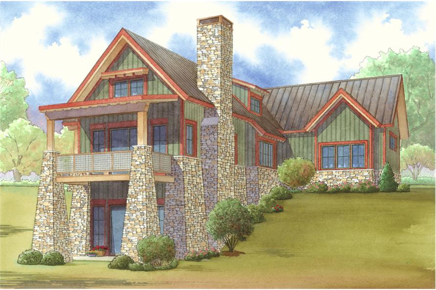 193-1020: Home Plan Rendering