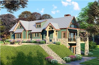 2-Bedroom, 1921 Sq Ft Traditional Home - Plan #193-1020 - Front Exterior
