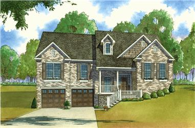 3-Bedroom, 2035 Sq Ft Country Home Plan - 193-1023 - Main Exterior
