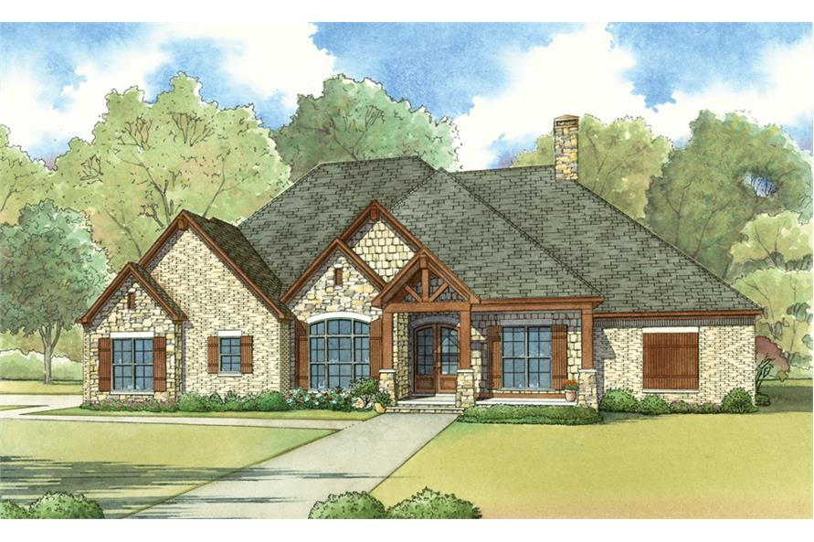 4-Bedroom, 2676 Sq Ft Country Home Plan - 193-1024 - Main Exterior
