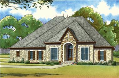 4-Bedroom, 2993 Sq Ft European Home Plan - 193-1025 - Main Exterior