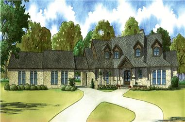 5-Bedroom, 4595 Sq Ft Country Home Plan - 193-1026 - Main Exterior