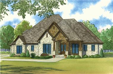 Front elevation of Country home (ThePlanCollection: House Plan #193-1027)