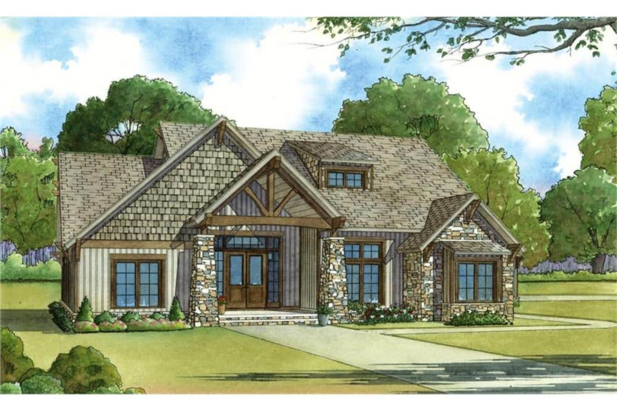 Front View of this 5-Bedroom,2513 Sq Ft Plan -193-1029