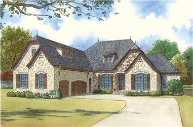 Front elevation of Country home (ThePlanCollection: House Plan #193-1030)