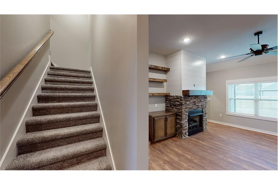 Stairs of this 3-Bedroom,1640 Sq Ft Plan -193-1033