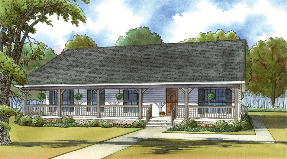 3 Bedrm 1800 Sq Ft Country House Plan 193 1035