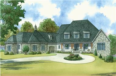 5-Bedroom, 6356 Sq Ft Country Home Plan - 193-1037 - Main Exterior