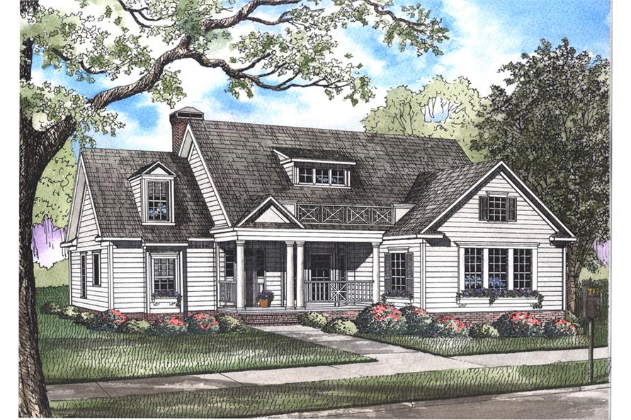 4-Bedroom, 2148 Sq Ft Country House Plan - 193-1039 - Front Exterior
