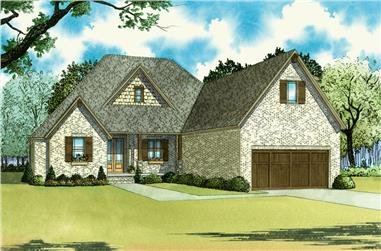 Front elevation of Southern home (ThePlanCollection: House Plan #193-1041)